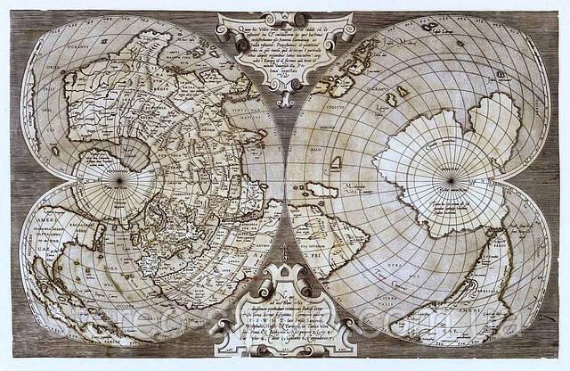 Старинная карта 71см х 46см ткань, подрамник