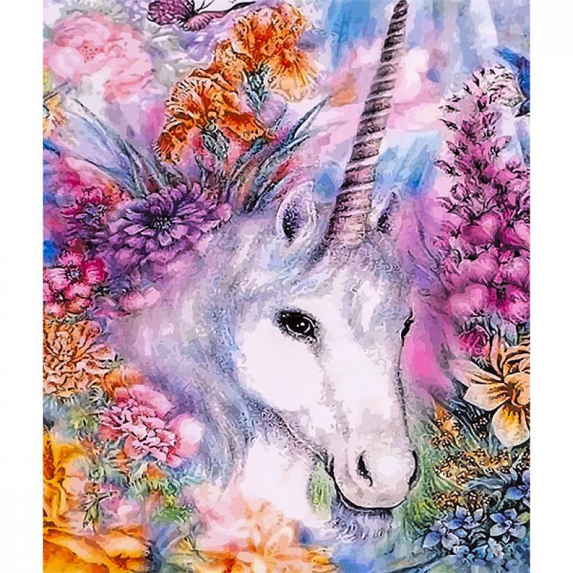 Картина по номерам 40x50 30504 DIY Единорог, в подарочной упаковке