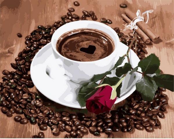 Картина по номерам рисование Mariposa Q2096 Приглашение на кофе 40х50см набор для росписи по цифрам, краски,
