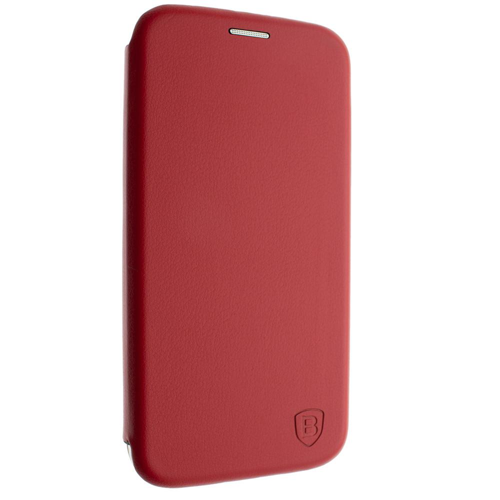 Чехол-книжка для Huawei Y5 Prime красный, кожаный