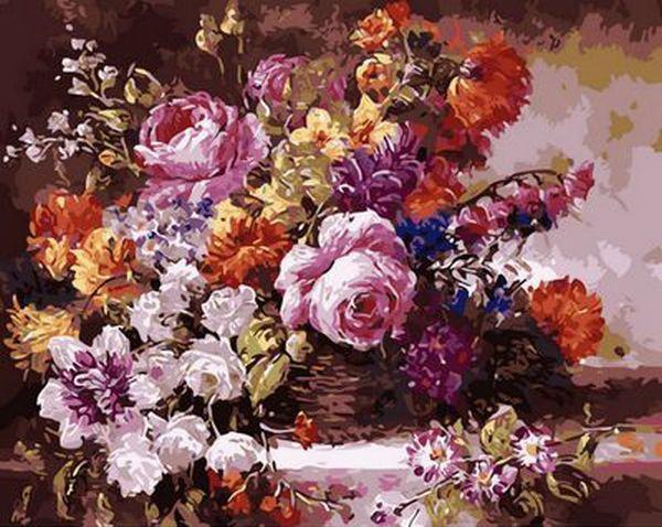 Картина малювання за номерами Mariposa Роскошный букет MR-Q1363 40х50 см Цветы, букеты, натюрморты набор для росписи краски,