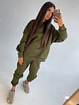 Теплий спортивний костюм жіночий з блискавкою на спині і штанинах (р. 42-48) 71051163, фото 5