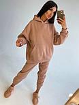 Теплий спортивний костюм жіночий з блискавкою на спині і штанинах (р. 42-48) 71051163, фото 6