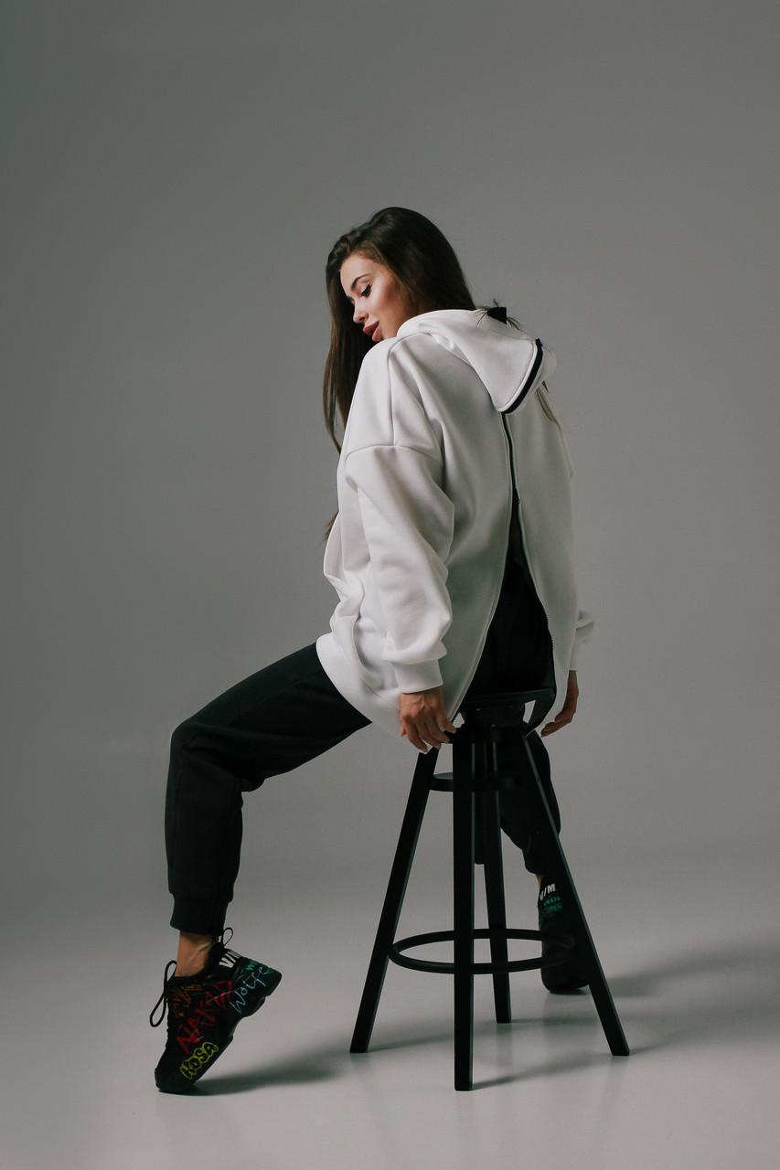 Женский спортивный костюм на флисе с молнией на спине и штанинах (р. 42-46) 66051180Q