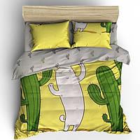"""Комплект постельного белья """"Cactus Cat"""" Бязь Голд Cactus Cat-7263AB, Семейный комплект"""