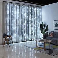 """Світлодіодна гірлянда Штора-Водоспад"""" 320ламп(LED), 3х1,5 м, вулична, кольори в асортименті, фото 1"""