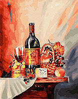 Картина рисование по номерам BrushMe Винная полка BRM26125 40х50 см Для кухни набор для росписи краски, кисти,, фото 1