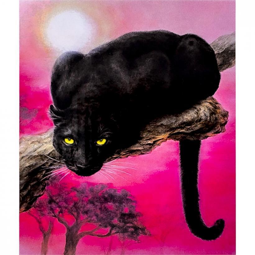 Картина по номерам 40x50 30456 DIY Пантера, в подарочной упаковке