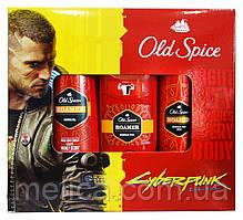 Набор Old Spice Roamer CyberPunk 2077 (гель для душа+аэрозольный дезодорант+дезодорант стик)