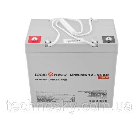 Аккумуляторная батарея LogicPower LPM-MG 12-55 AH (мультигелевый, AGM)