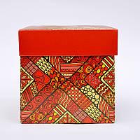 Подарочная упаковка для чашки с Красным принтом