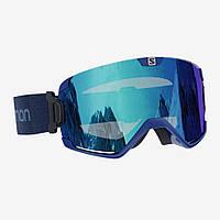 Горнолыжная маска Salomon cosmic bold blue/univ mid blue (MD)