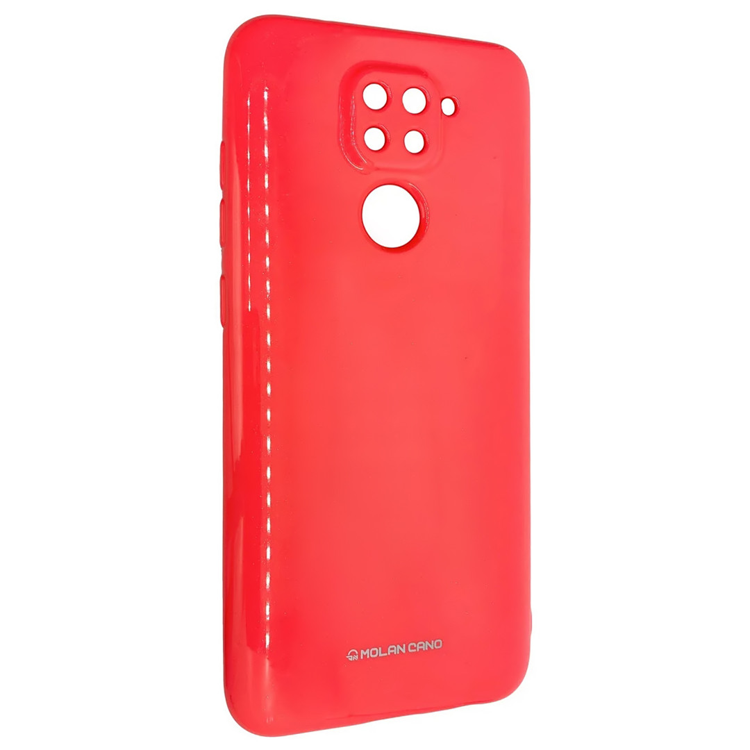 Силиконовый чехол для Xiaomi Redmi 10X 4G, Molan Cano, коралловый с микроблеском
