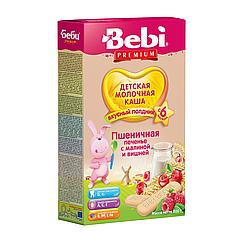 Молочна каша Bebi Premium Пшенична Печиво з малиною і вишнею, 6+, 200г