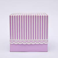 Подарочная упаковка для чашки Фиолетовая