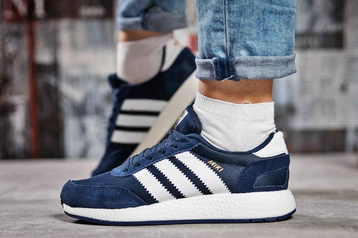 Кроссовки женские Adidas Iniki темно-синие