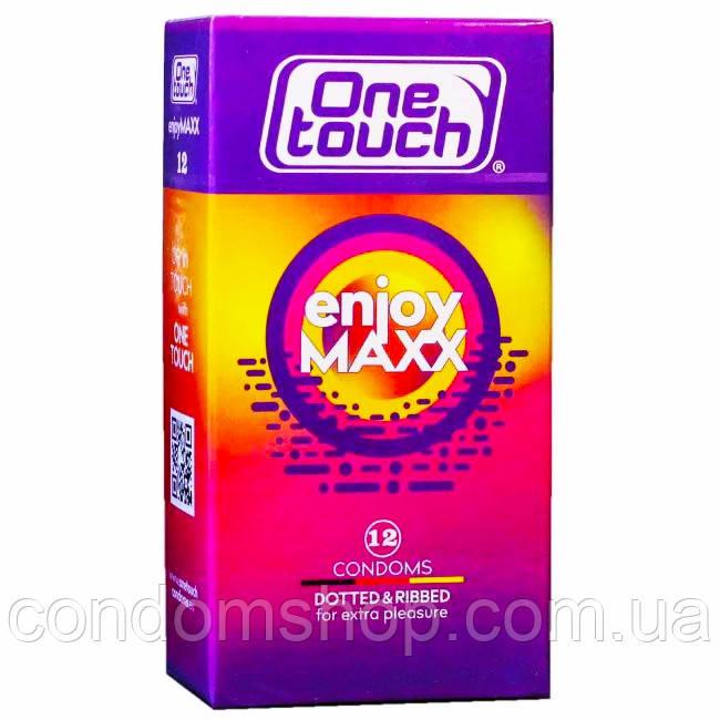 Презервативы премиум класса ONE TOUCH 2 в 1 точечные+ребристые .Enjoy MAXX 12 шт.ПРЕМИУМ СЕГМЕНТ