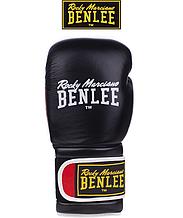 Боксерские перчатки Benlee SUGAR DELUXE 12oz, кожа, черно-красные