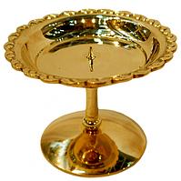 Подсвечник декоративныйбронзовый для широкой свечи для1 свечи