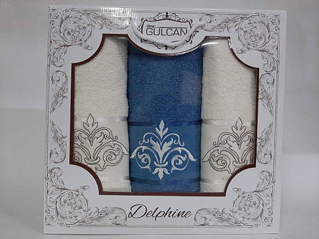 Набір бавовняних рушників Gursan Cotton в коробці 50х90 + 70х140, фото 2
