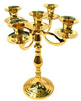 Подсвечник декоративныйбронзовый для 5 свечей 24 см