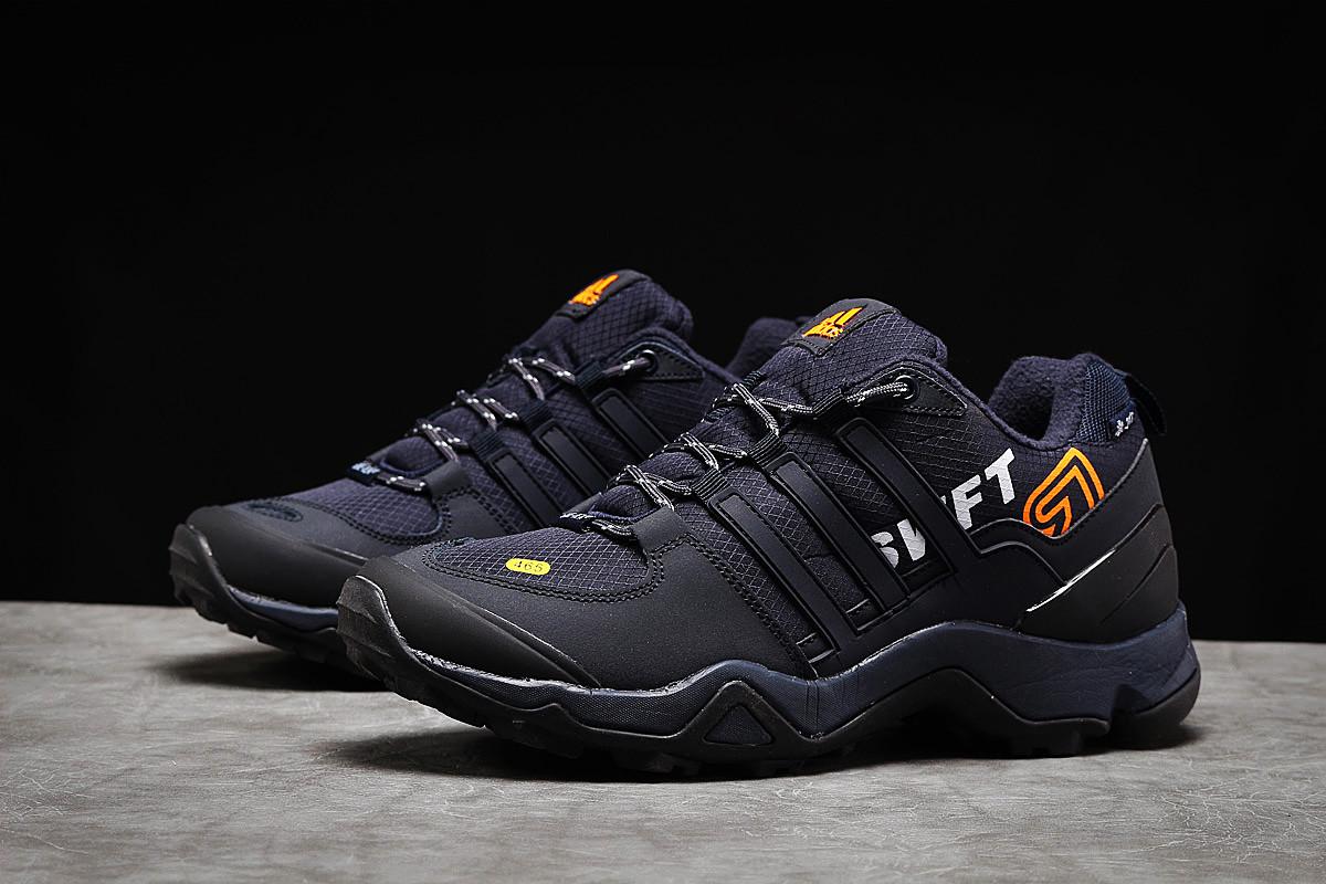 Зимние мужские кроссовки Adidas 465 темно-синие
