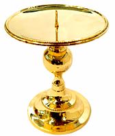 Подсвечник декоративныйбронзовый для широкой свечи 14 см