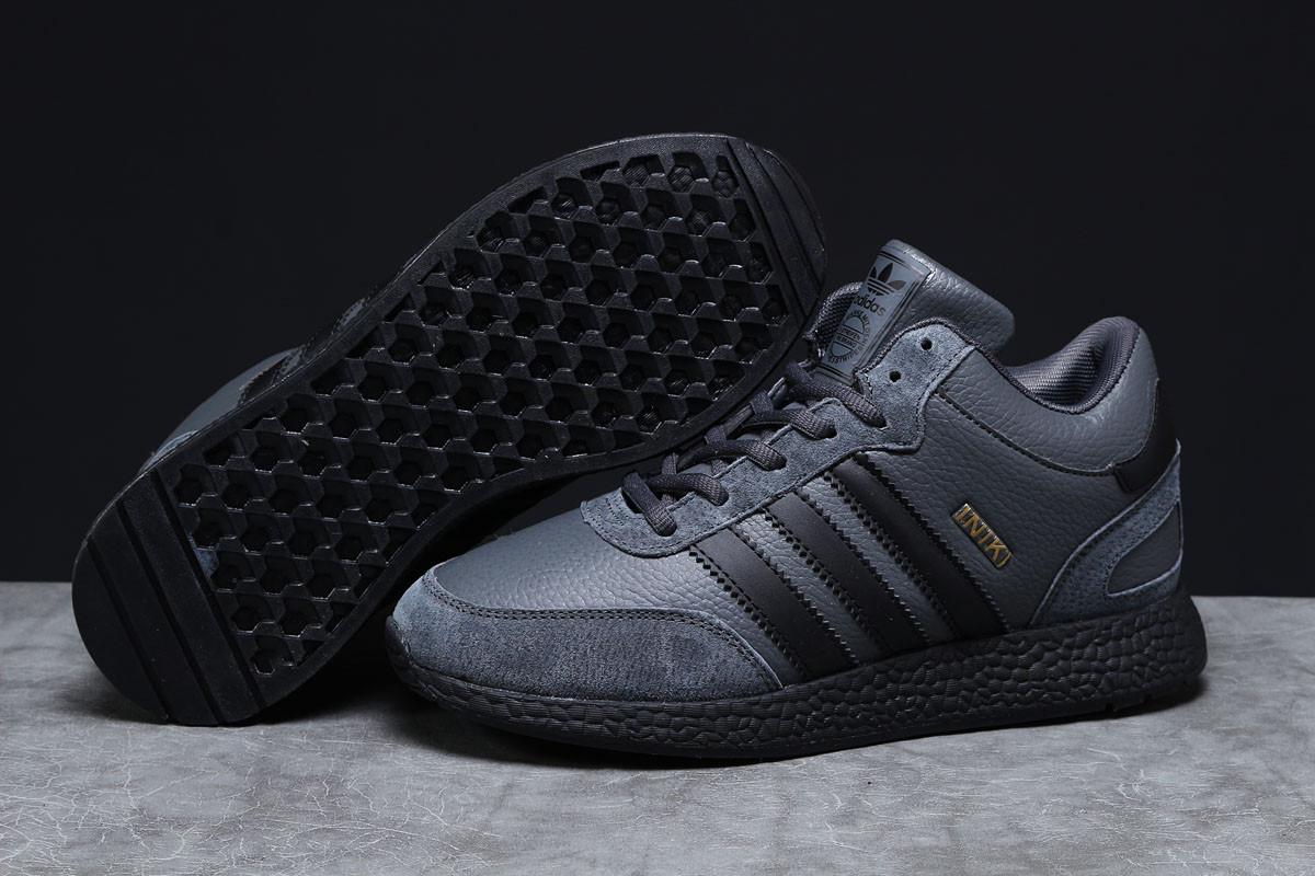 Зимние мужские кроссовки Adidas Iniki темно-серые  46
