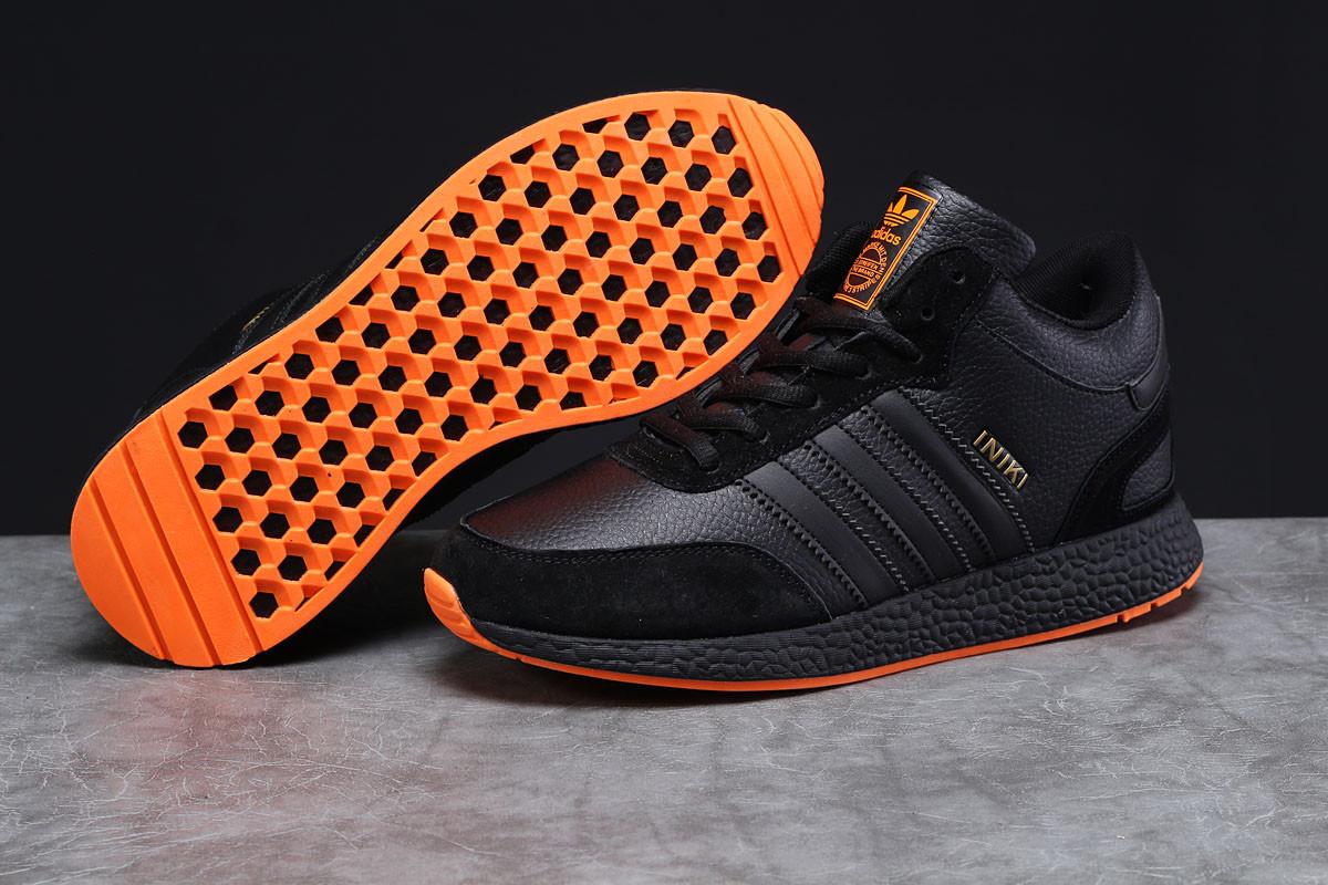 Зимние мужские кроссовки Adidas Iniki черные  43