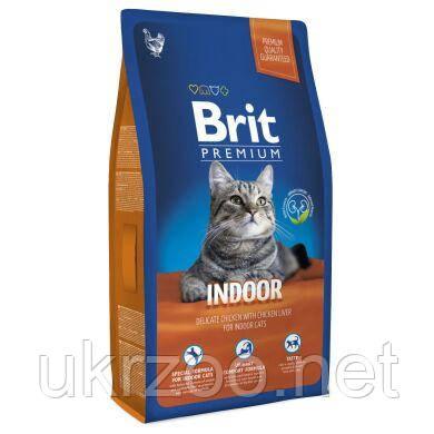 Повноцінний сухий корм Бріт Преміум Індор для дорослих котів, що живуть у приміщенні, 8 кг, 170374