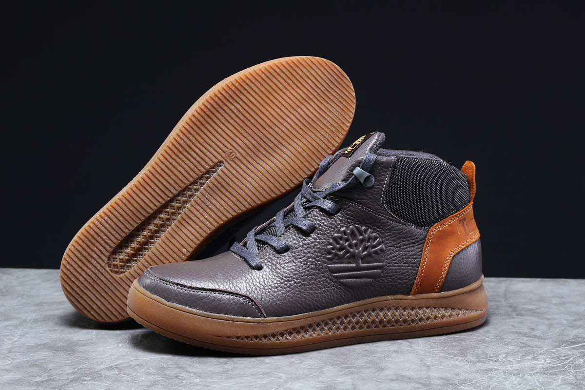 Зимние мужские кроссовки Timbershoes Sensorflex (на на мехуу) темно-серые