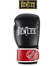 Боксерские перчатки Benlee CARLOS 10oz, PU, черно-красно-белые