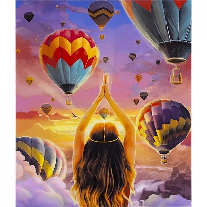 Картина по номерам 40x50 30338 DIY Воздушные шары, в подарочной упаковке