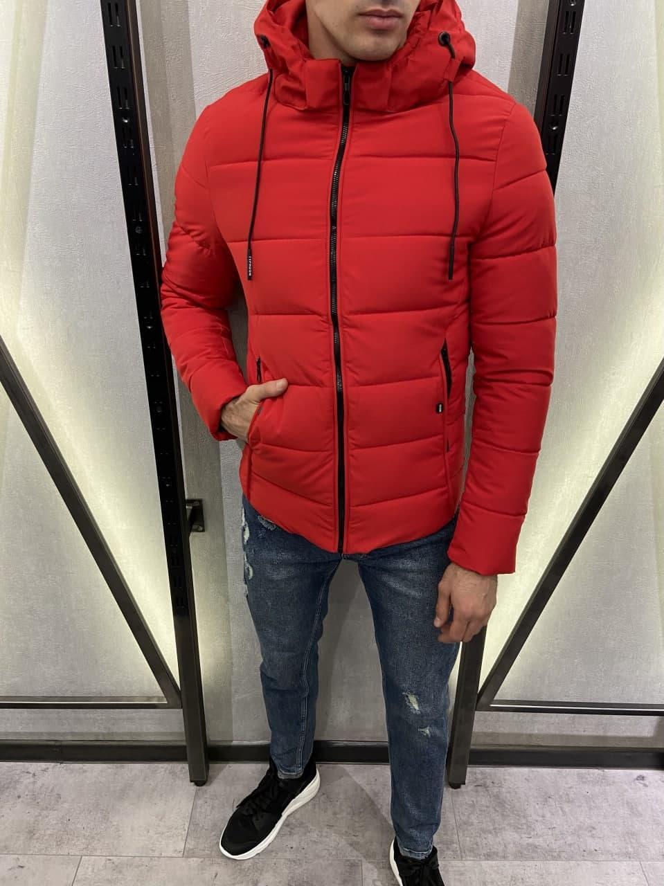 Мужская куртка красная еврозима