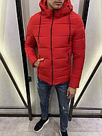 Мужская куртка красная еврозима, фото 1