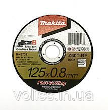 Круг відрізний тонкий з нержавіючої сталі 125х0.8х22.2мм Makita
