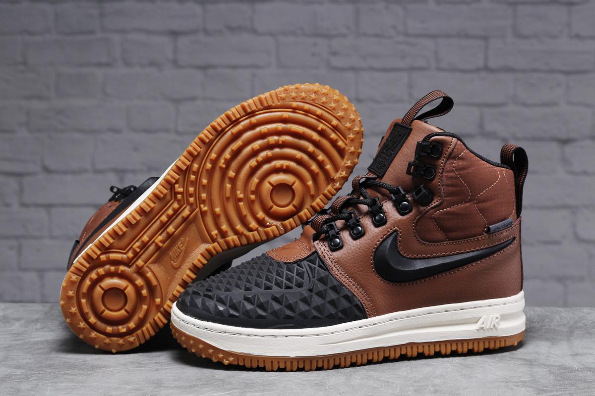 Зимние женские кроссовки Nike Air AF1 (на меху) коричневые  38