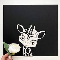 Заготовка для тиснення - Жирафка з квіточкою - 15,5х14 см. - № 25.