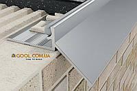 Карниз капельник отвод воды для открытого балкона и террасы профиль алюминиевый 2,5 м.п под плитку, фото 1