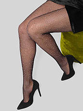 Колготки женские со стразами черные - 314-04, фото 3