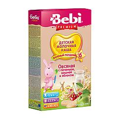 Молочна каша Bebi Premium Вівсяна з печивом, вишнею і яблуком, 6+, 200г