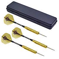 Дротики для игры в дартс латунные профессионально-любительские с оперениями Комплект 3 шт Zelart (BL-3300)