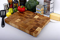 Торцевая разделочная доска 35x25 см из ясеня LineWood 35x25x3.5 см, фото 1