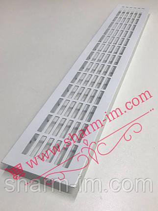 Алюмінієва вентиляційна решітка 480х80 мм, Колір - Білий, фото 2