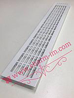 Алюмінієва вентиляційна решітка 480х80 мм, Колір - Білий, фото 1