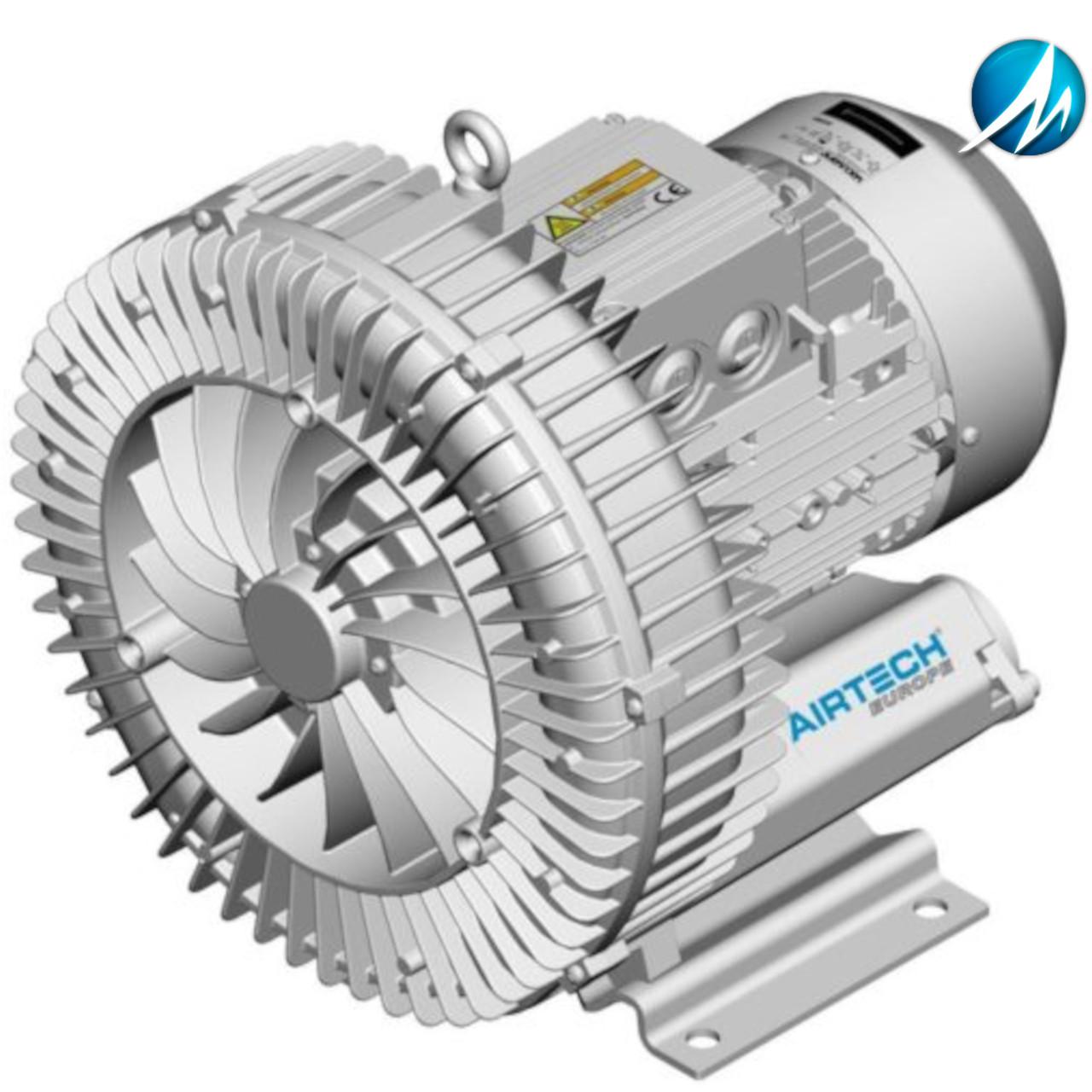 Компрессор HPE AIRTECH 0,8 кВт (140 м³/ч, 160 мБар, 230 В)