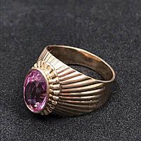 Золотое кольцо с фианитами 583 пробы, вес 8,18 г. Б/у. Продажа по Украине, фото 2