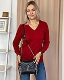 Женская кожаная сумка polina&eiterou большая черная, фото 2