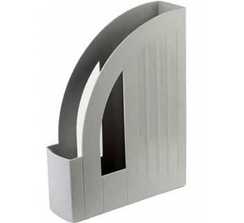 Лоток для бумаг вертикальный Eсonomix, платик, серый