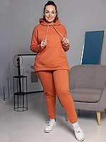 Спортивный женский костюм зима кирпичный ХL, фото 1